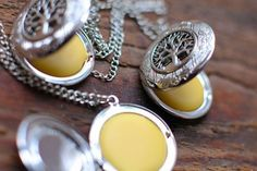 solid botanical perfume lockets