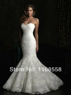 novo 2014 mulheres sereia elegante mangas Catedral de trem real até o chão Vestidos de casamento vestido de noiva vestido de noiva US $155.00