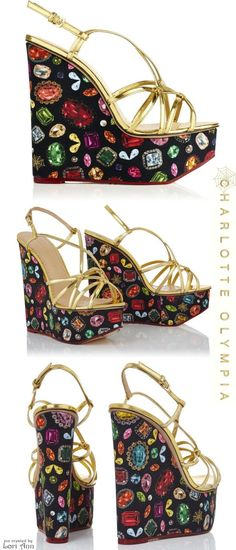71d4d794e37a Charlotte Olympia Cruise 2016 - Jewel Elizabeth Wedge Top Shoes