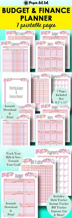 Budget Planner Printable  Home Finance Binder  Household