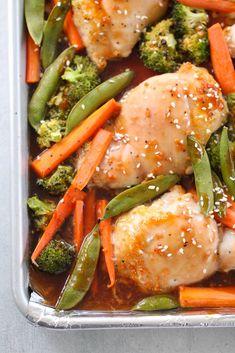 Sheet Pan Teriyaki Chicken and Vegetables | Six Sisters' Stuff