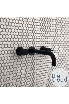Broadwater White Matt Penny Round Mosaic Tile - No TileCloud Customer Project Grey Mosaic Tiles, White Bathroom Tiles, Mosaic Bathroom, Bathroom Tile Designs, Penny Round Tiles, Penny Tile, Diy Bathroom Remodel, Bathroom Renos, Basement Bathroom