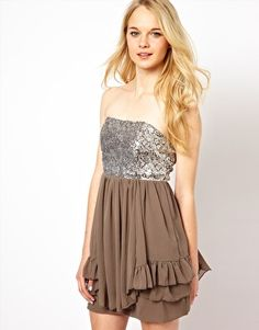Image 1 of Glamorous Babydoll Dress With Sequin