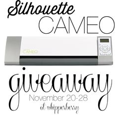 Silhouette CAMEO Giveaway at @Heather // Whipperberry!