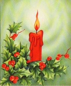 Candle and Holly...