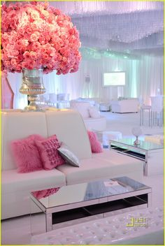I love this!! Such a stunning tented event.  Lounge areas are still a great way to add a different element, breaking up the space.