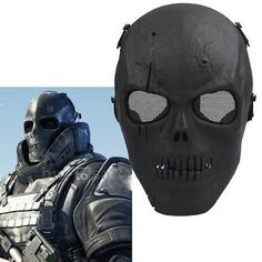 Paintball #protective skeleton #skull mask fullface tactical airsoft #military ma, View more on the LINK: http://www.zeppy.io/product/gb/2/180945009416/