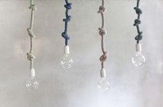 手編みロープ照明