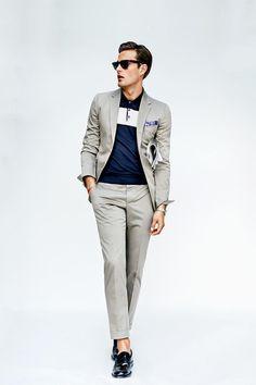 polo + suit