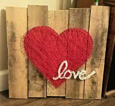Multi-layered string-art: string-art within string-art. Love-heart String Art, created by Ashelynn Duvick.