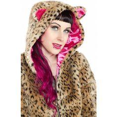 Leopard Kat Fur Jacket