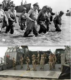 """America's love for the Filipino people, in times of despair they are always there... The first """"Leyte landing"""" in 1944 (for the liberation from Japanese occupation), and the second """"Leyte landing"""" 2013... History repeats itself..."""