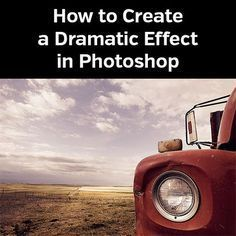 How to Create a Dramatic Effect in Photoshop #photoshop #tutorial