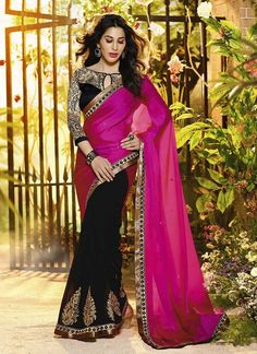 Pink & Black Wholesale Sarees Supplier Online  Collection | Traditional Sarees Online | Surat Wholesaler  Buy Now @ http://www.suratwholesaleshop.com/77-Outstanding-Blue-Party-Wear-Designer-Saree-Surat-Wholesale-Shop?view=catalog  #designersarees #traditionalsarees #suratsarees #onlinesarees #bulksarees #supplier #designersarees #traditionalsarees