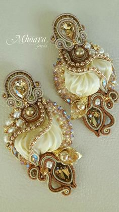 'Iside' shibori silk earrings Mhoara Jewels