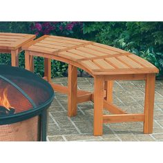CobraCo 1/6 Round Fire Pit/Garden Bench Lets You Customize Your Seating  Area · Curved Outdoor ...