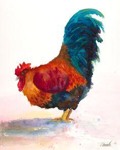Haan art Haan aquarel haan print haan schilderij door AnnetteBennett