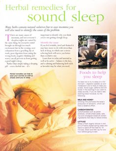 Herbal remedies for sound sleep