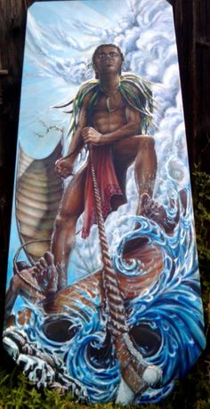 maui and the sun myth Polynesian Art, Maori Designs, Nz Art, Maori Art, Bone Carving, Indigenous Art, Book Characters, Mythical Creatures, Art Boards