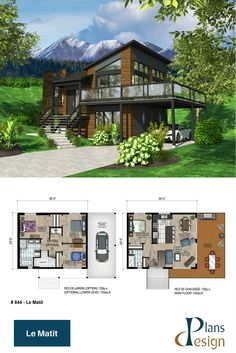 I like the second floor plan. It could be a house by itsel Sims 4 House Plans, Sims 4 House Building, House Plans Mansion, House Layout Plans, Dream House Plans, House Layouts, Contemporary House Plans, Modern House Plans, Casas The Sims 3