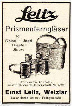 Original-Werbung/ Anzeige 1928 - PRISMENFERNGLÄSER / LEITZ WETZLAR - ca. 65 x 100 mm