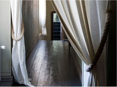 ...Coming soon to Pandeia studio, Linen drapes and rope tie backs...