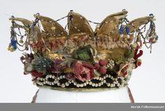 Digitalt Museum - Brudekrone Swedish Fashion, Bridal Crown, Headgear, Headdress, All Art, Fascinator, Just In Case, Wedding Styles, Crowns