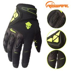RIGWARL Men Spring Autumn Full Finger Cycling Gloves Bike Motocross Racing Gloves with Protect Shell guantes ciclismo