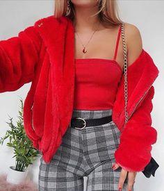 Fantastic Fashion Tips And Advice To Improve Your Look – Fashion Trends Trend Fashion, Fashion Mode, Look Fashion, 90s Fashion, Red Fashion Outfits, Fashion Ideas, Winter Fashion, Jeans Fashion, Fashion Quotes