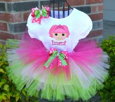 Sparkly Jewels LaLa Lalaloopsy Embroidered Tutu Set- for birthday party