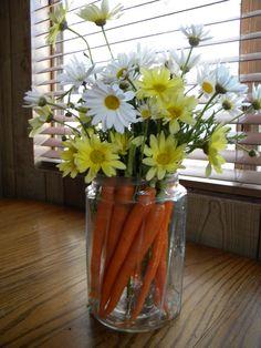 My Pooh Bear/ Rabbit inspired Easter flower arrangement
