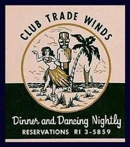 match book from Trade Winds hotel Tulsa, Oklahoma
