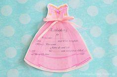 Kindergeburtstag-Einladung Prinzessin
