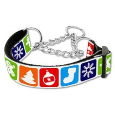 Mirage Pet Products Classic Christmas Nylon Ribbon Martingale Collar for Dogs, Large *** Read more reviews of the product by visiting the link on the image. (This is an affiliate link and I receive a commission for the sales)