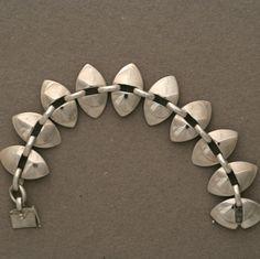 Gallery 925 - Georg Jensen Link Bracelet by Nanna Ditzel, No. 106, Handmade Sterling Silver.