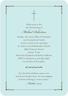 Baptism, Christening Invitations - Blessed Garland: Boy by Tiny Prints