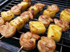 Made these tonight. Easy AND delicious! Perfect summer cookout meal. Pineapple-Glazed Shrimp Skewers. Photo by 2Bleu