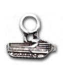 """AAV (Amphibious Assault Vehicle) - The AAV is an armored amphibious vehicle capable of transporting military personnel on both land and sea.  Our charm is a .925 sterling silver 3-dimensional replica of an AAV inscribed on the bottom with """"YAT YAS"""", an acronym for the motto of the Marine Corps' Assault Amphibian Battalions."""