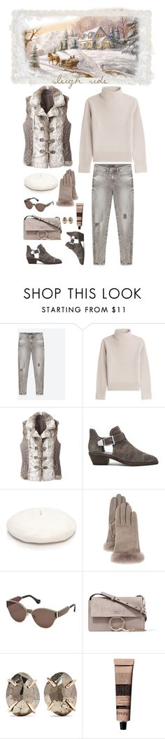 """""""Sleigh Ride"""" by musicfriend1 ❤ liked on Polyvore featuring Vanessa Seward, TravelSmith, Vince Camuto, New Directions, UGG, Balenciaga, Chloé, Melissa Joy Manning and Aesop"""