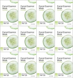 Kareway Epielle Cucumber Facial Essence Mask Pack of 12 -- To view further for this item, visit the image link. (Note:Amazon affiliate link)