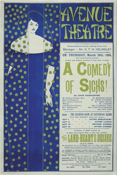 'A Comedy Of Sighs!' at the Avenue Theatre, Charing Cross - A Beautiful Glossy Art Print Taken From a Vintage Theatre Poster Art Nouveau, Art Deco, Artist Birthday, James Mcneill Whistler, Japanese Woodcut, Aubrey Beardsley, Art Story, Design Graphique, Ink Illustrations