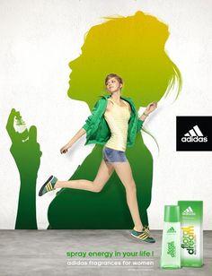 Advertising #Adidas fragrance for Women - by Y & R Paris - 2011