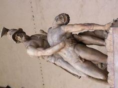Ménélas soutenant le corps de Patrocle par Pietro Tacca et Lodovico Salvetti _  Loggia dei Lanzi, Firenze