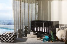 Pin for Later: 10 Over-the-Top Cribs You Have to See to Believe Nursery Works Vetro Crib Baby Decor, Kids Decor, Home Decor, Baby Furniture, Furniture Design, Nursery Works, Acrylic Furniture, Convertible Crib, Baby Cribs