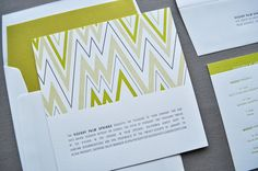 lots of chevron with less printing...kind of a cool idea
