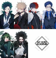 Izuku, Katsuki, Shouto, Tenya, Asui and All Might/Yagi Toshinori    Boku no Hero Academia