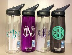 Monogrammed Personalized Camelbak Water Bottle. Perfect Easter Basket Stuffer. $23.50, via Etsy.