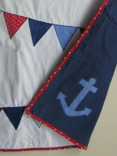 Anchor applique by Sunny Tuesday: Nautical Bunting Quilt