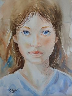- Gallery - Giulia Gatti Watercolor And Ink, Watercolor Paintings, Damask Rose, Gray Eyes, Red Earrings, Watercolors, Portraits, Gallery, Drawings