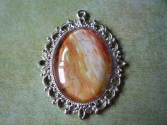 """Fiery Pendant 2 1/2"""" by 2"""" by ForeverCreateDesigns on Etsy"""